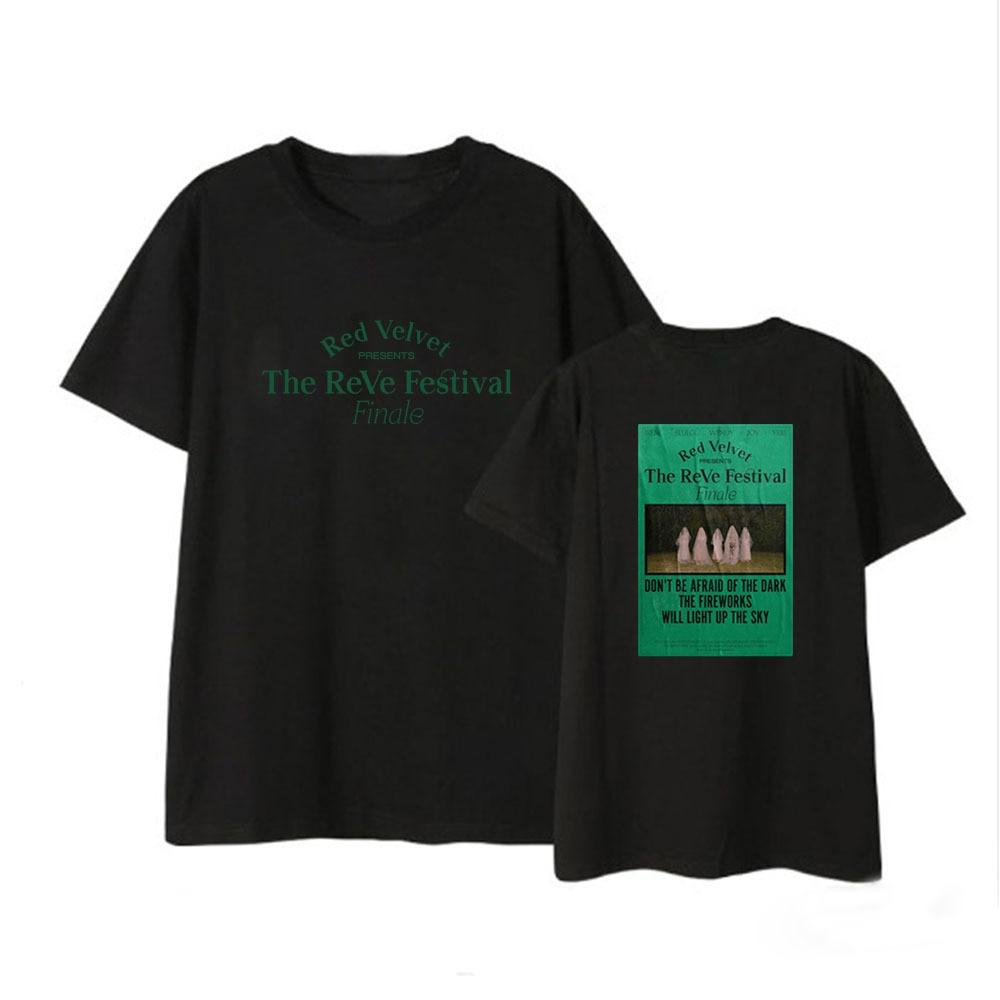 Camisetas de manga corta de terciopelo rojo, camisetas para hombres y mujeres, camisetas para parejas, camisetas de verano, ropa para Fans del álbum del Festival ReVe