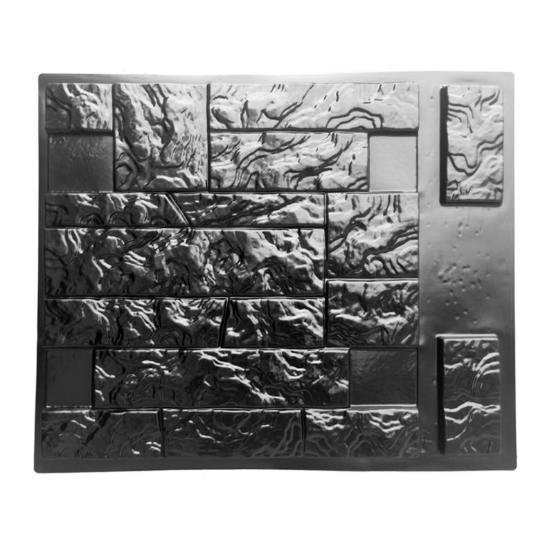 طوابع خرسانية عمودية جدار الخرسانة الجص حديقة منزل حجر الجدار بلاط قالب حجر قرميد أسمنتي صانع قالب الرجعية
