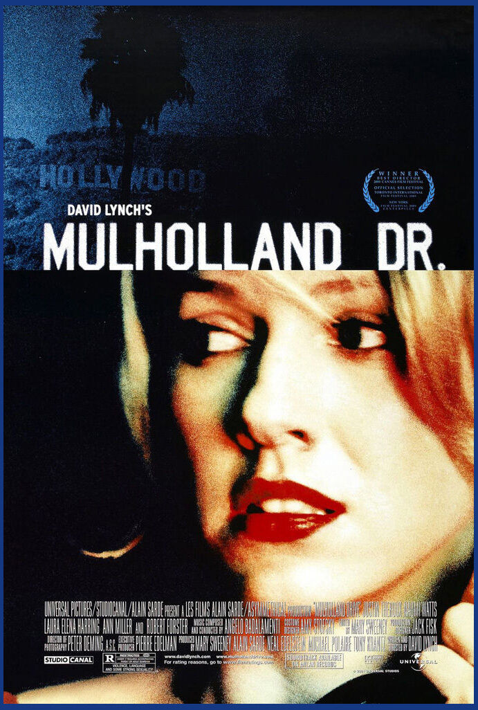 MULHOLLAND DR Póster de cine clásico DRIVE 2001, Póster Artístico de seda, pintura de pared 24x36inch