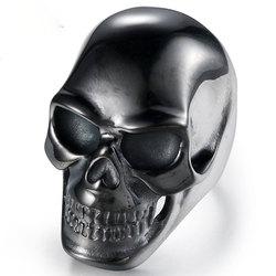 Estilo punk crânio preto anel masculino exclusivo acessórios de festa charme masculino jóias anel da motocicleta