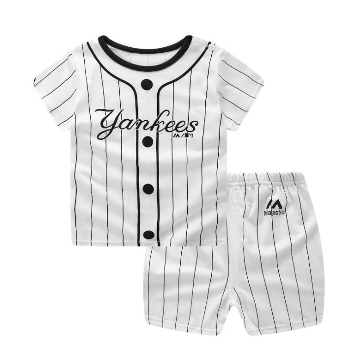 Ropa de diseñador de marca para Bebé Ropa Deportiva chándal camiseta a rayas activas + Pantalones cortos conjuntos de ropa niño