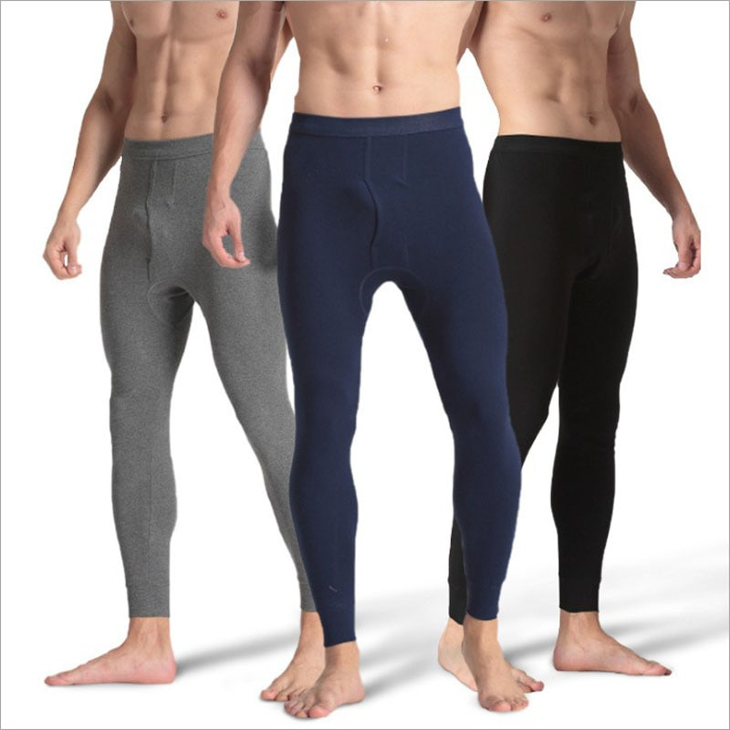 Fashion Thermal Underwear for Men Long Johns Loose Thermal Pant Underwear Men Plus Size Warm Mens Leggings Long Autumn Pants