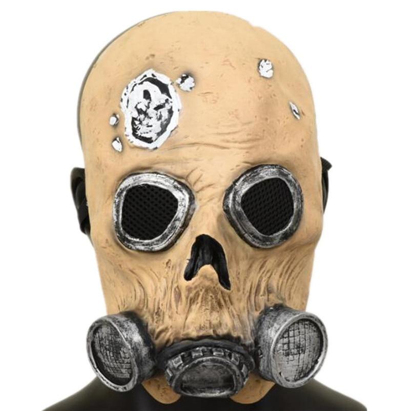 Máscara De calavera De látex para Halloween, casco Antiviral, máscaras De Terror De Halloween, utilería De miedo para Cosplay, mascarada, suministros De Halloween