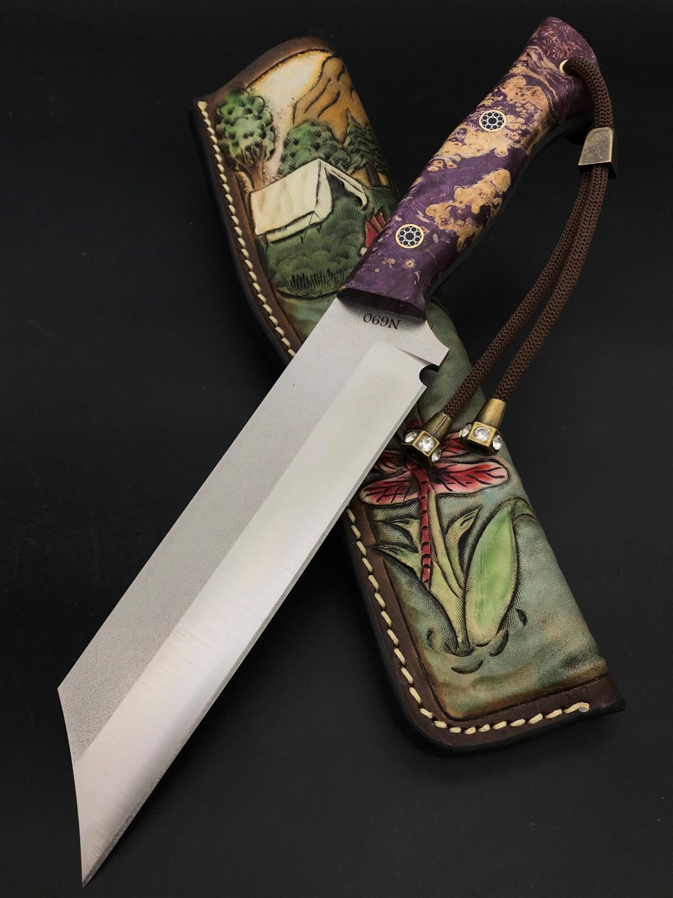 Handmade N690 Special Design Knife TK06