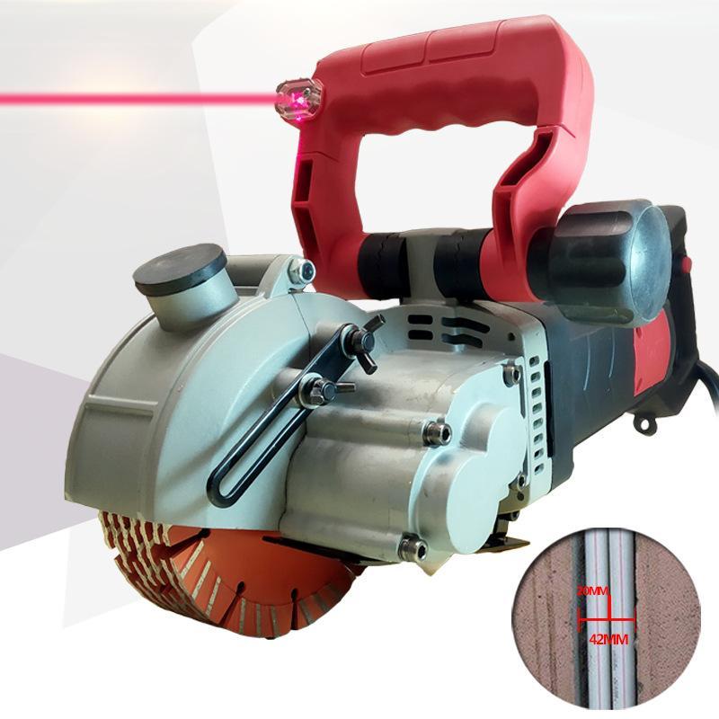ماكينة حفر صب تركيب المياه والكهرباء الحز آلة قطع الجدار الخرساني الخالي من الغبار 220 فولت