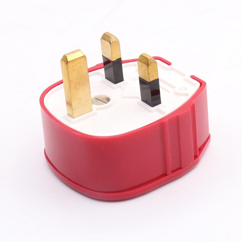 Pieza MK-655 (G) rojo resistente-enchufe UK 13A excelente, alta fidelidad Audio Cables conector enchufe