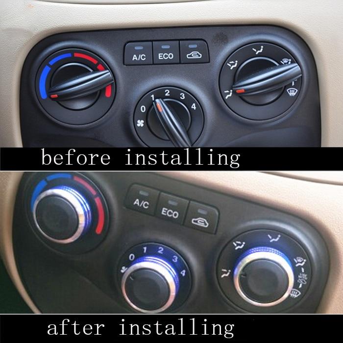 3pcs/Set Car AC Knob Aluminum alloy Air Conditioning Heat Control Switch Accessories Suitable For KIA RIO 2006-2011 hxh