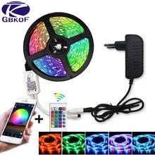 SMD 5050 2835 DC12V rgb String Diode Flexible Ribbon 5m 10m 15m WiFi LED Strip Light RGB Waterproof  WiFi Contoller+Adapter plug
