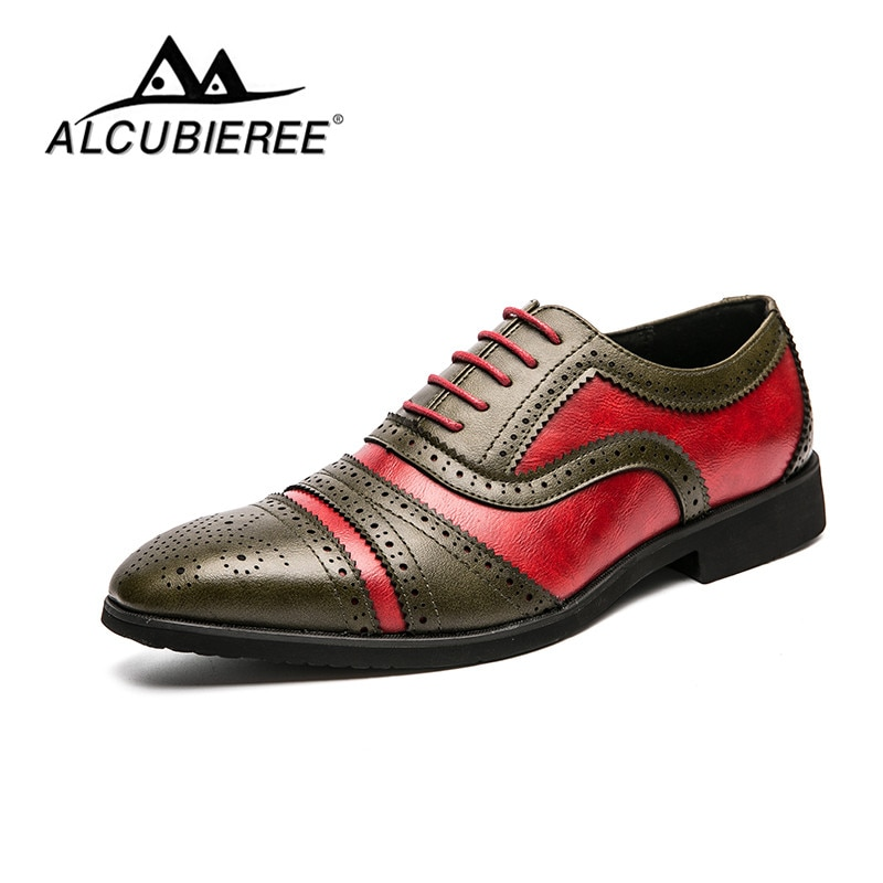 Brand Men Shoes Top Quality Oxfords British Style Men Leather Bullock Carved Dress Shoes Business Fo