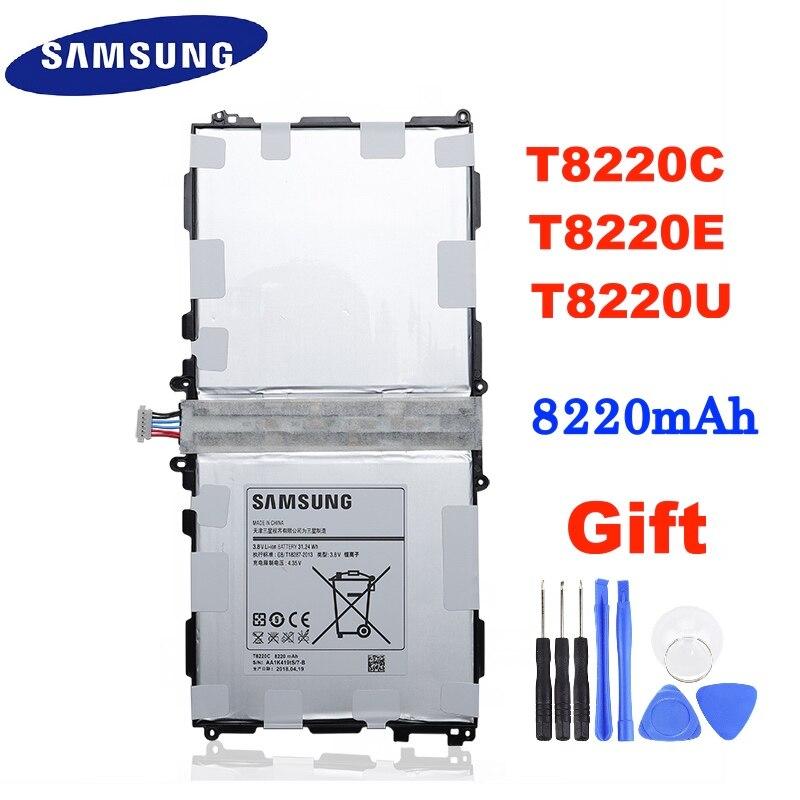 SAMSUNG Tablet Originais T8220E T8220C T8220U bateria 8220mAh Para Samsung GALAXY Tab 10.1 Nota Pro P600 P601 P605 P607 T520 T525