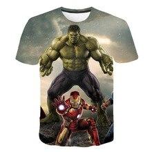 T-shirt 3D pour garçons   Marvel, super héros de fer, Thor Hulk Captain America, Spiderman garçons enfants dessin animé filles, camisetas 2020