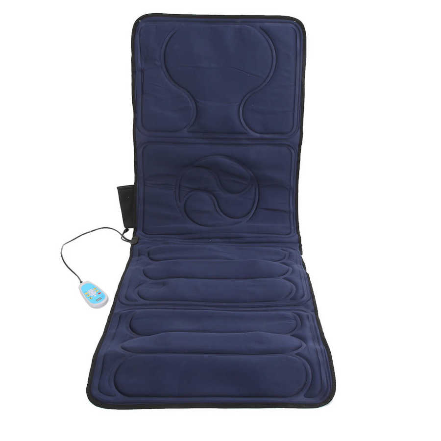 Intelligent Heating Massage Cushion Household  Folding Flannel Chair Mat Back Shoulder Neck Full Body Pain Relief Massager Pad enlarge