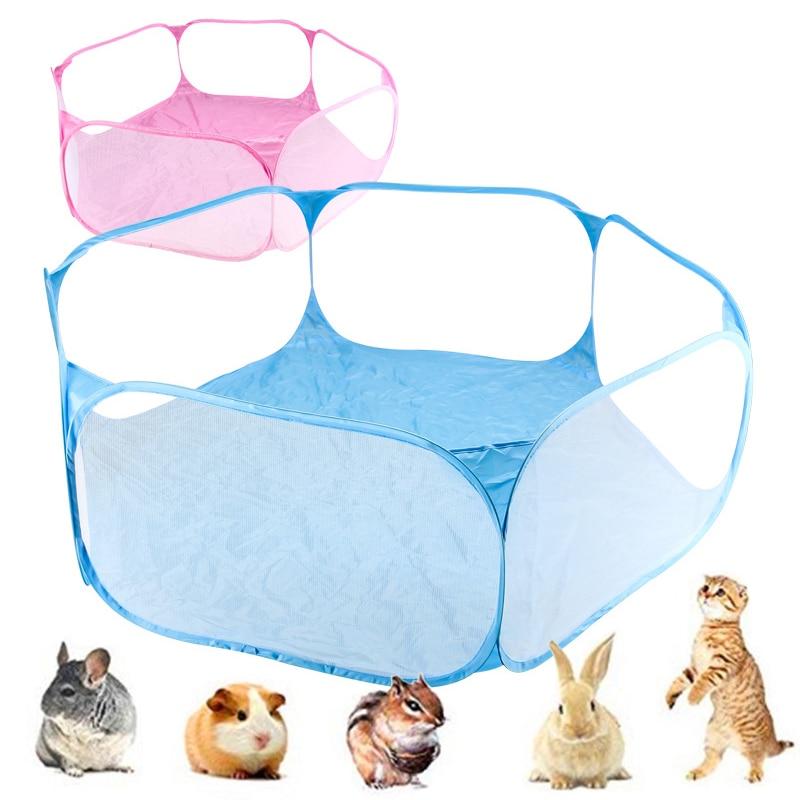 Mascotas Parque portátil moda abierto interior/al aire libre jaula de animales pequeños...
