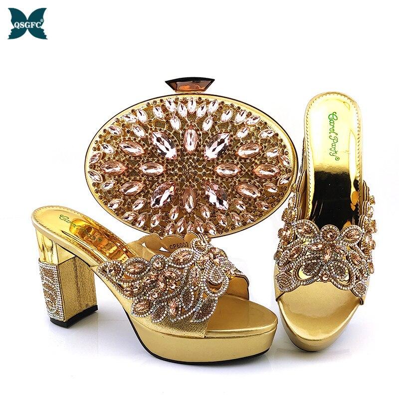Africano e Bolsa Conjunto para Festa em Senhoras Sapato e Bolsa Sapatos e Bolsa Conjunto para Casamento Sapato Itália Correspondência Nigeriano Sapatos Bolsa
