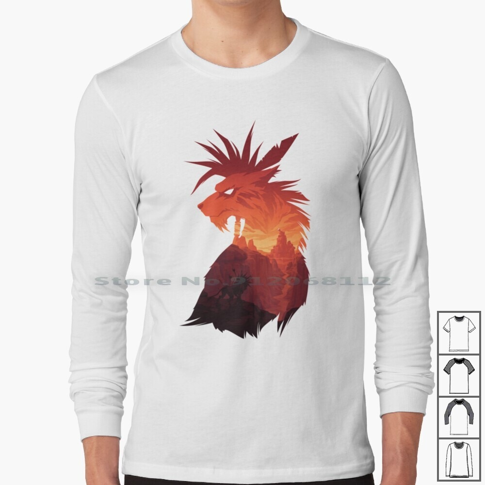 The Guardian Long Sleeve T Shirt Final Fantasy Red Xiii Red 13 Final Fantasy Vii Final Fantasy 7 Nanaki Seto Cosmo Video Games