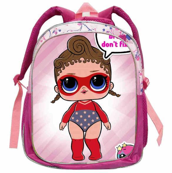 Mochila LOL de dibujos animados de 12 pulgadas para niños, mochilas escolares, bolsa de libros para niños y niñas, bolsa pequeña de muñecos Lol para guardería
