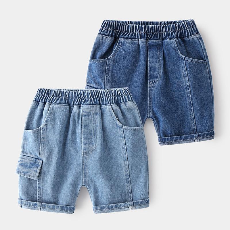 Boy's Shorts Casual Fashion Pocket Thin Denim Fabric Shorts Boys Jean Short Pant Children Clothing for Children Shorts