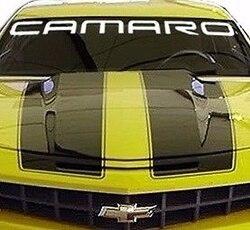 """Para chevrolet camaro pára-brisa gráfico vinil decalque adesivo personalizado 40 """"logotipo do veículo"""