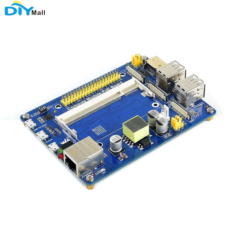 Компьютерный модуль IO Плата с PoE особенность композитная Breakout плата для Raspberry Pi CM3/CM3L/CM3 +/CM3 + L