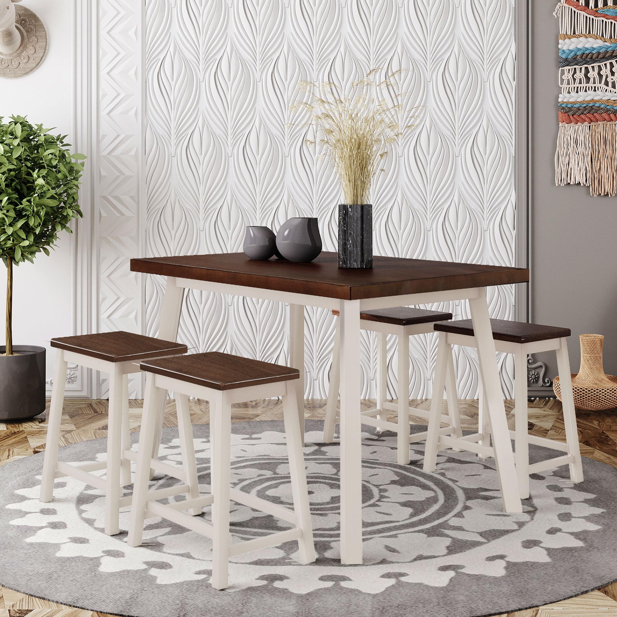 Деревенский 5 шт. Кухня набор мебели с 4 стулья набор столов для ресторана современная мебель для дома Прямая доставка