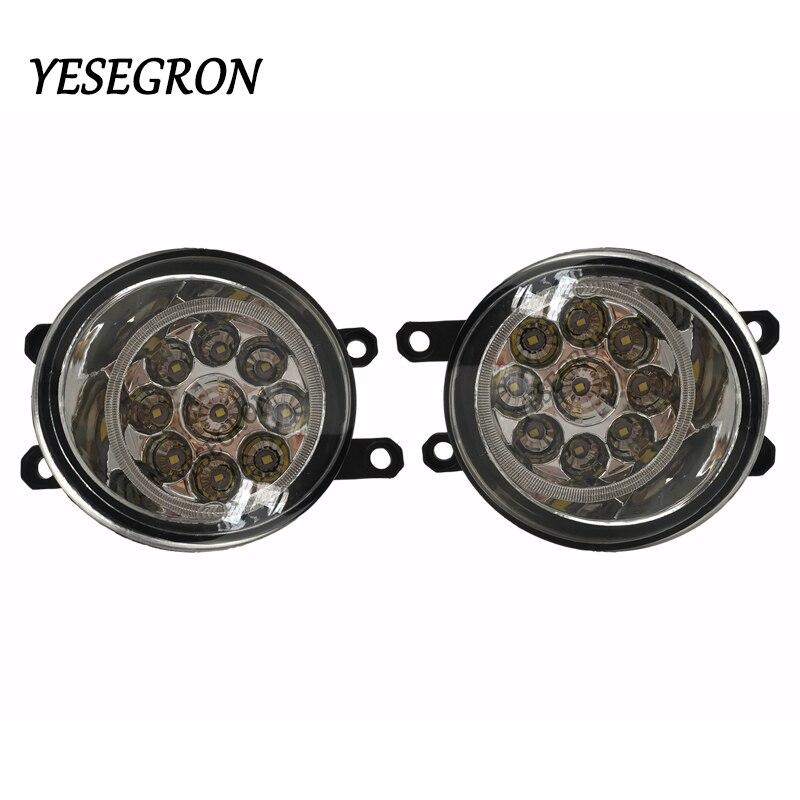 YESEGRON pour Lexus RX350 est F RX450h Toyota Venza 2007-2014 LED très brillante antibrouillard 9W 450LM antibrouillard assemblée 2 pièces