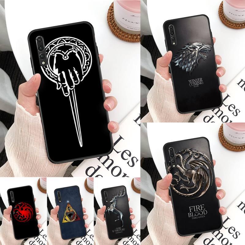 Yinuoda Juego de tronos casa funda de teléfono para Huawei Mate 30 Pro P20 P30 P40 pro lite Y7 Y6 2019 para Honor 8X 8A 10 20lite 10i