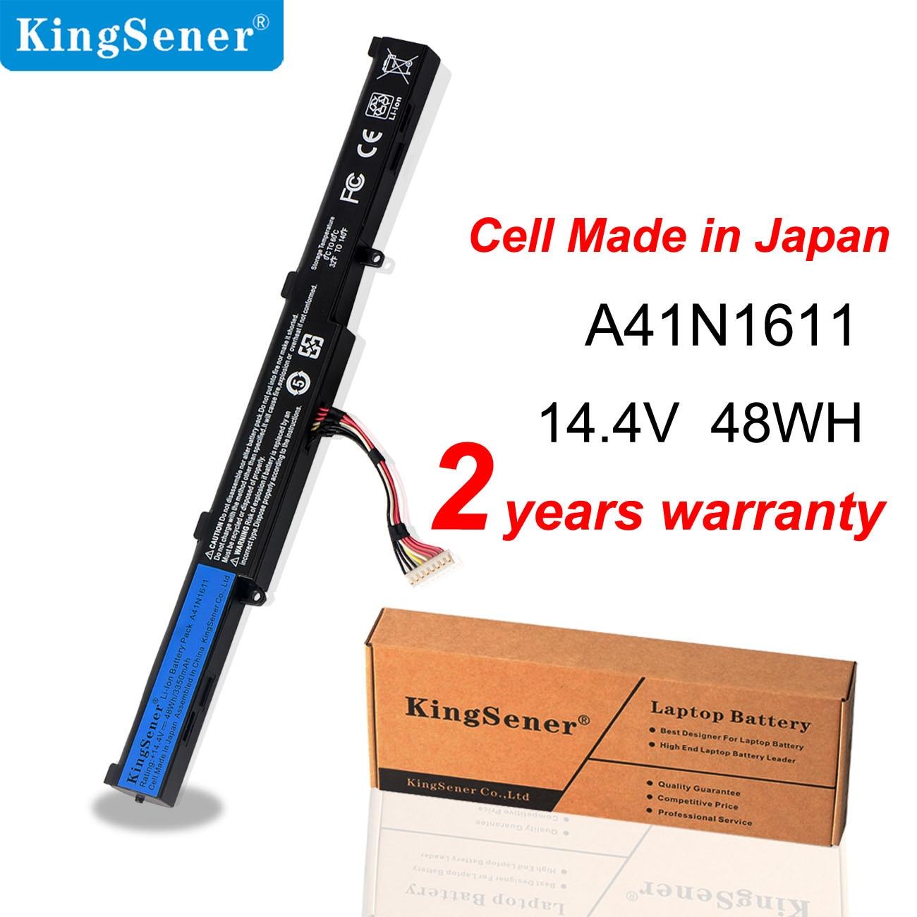KingSener 14.4V 48WH A41N1611 بطارية كمبيوتر محمول ل ASUS ROG GL553 GL553VD GL553VE GL553VW سلسلة A41LK5H A41LP4Q