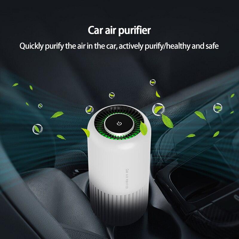 Портативный мини-очиститель воздуха, настольный бесшумный увлажнитель воздуха с USB, автомобильный генератор тумана, прочный, для спальни, у...