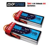 2020 DXF 2 pièces lipo batterie 3S 11.1V 7000mah 60C Max 120C jouets et loisirs pour hélicoptères RC modèles li-polymère batterie