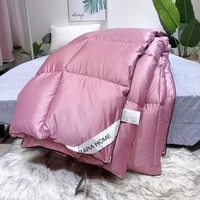 lism 95 goose down duvet quilted warm and comfortable cotton 200x230cm size winter thick blanket solid color