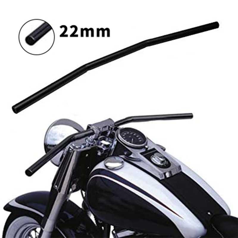 Manillar De Motocicleta De 7 8 Pulgadas 22mm Negro Barra Recta Cafe Racer Para Honda Kawasaki Yamaha Suzuki Chopper Bobber Manillar Aliexpress