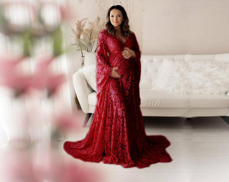 Lace Maternity Photography Props Dresses For Pregnant Women Clothes Maternity Dresses For Photo Shoot Pregnancy Dresses 1709643 enlarge