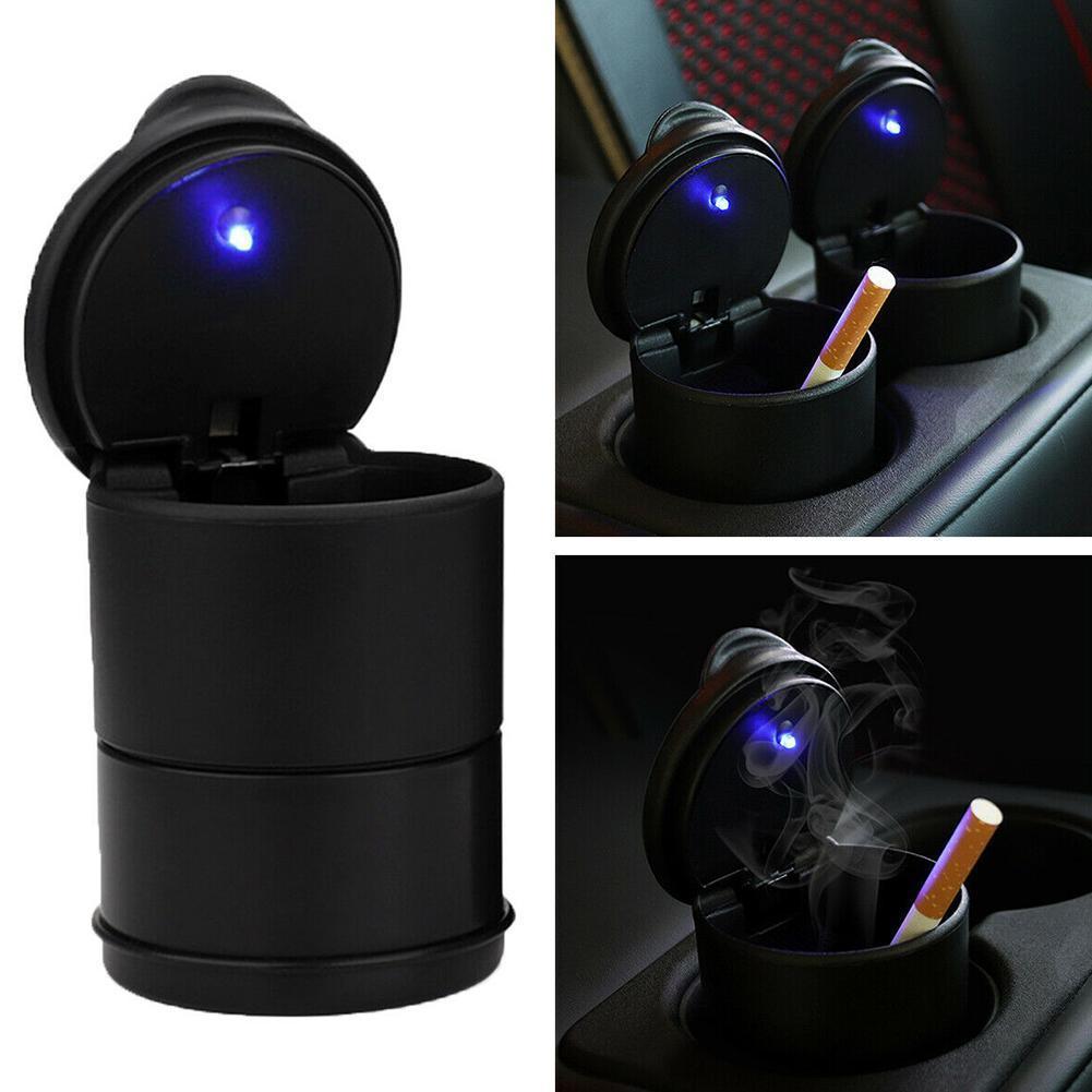 Plastic Car Ashtray LED Light Cigarette Cigar Ashtray Container Ashtray Gas Bottle Smoke Cup Holder