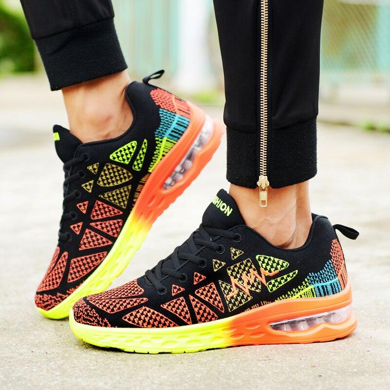Весенние мужские кроссовки 2021, легкие мужские кроссовки для бега на шнуровке, спортивные мужские кроссовки для бега с амортизирующей возду...
