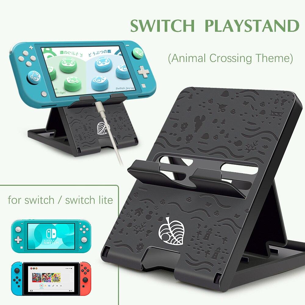 Suporte dobrável para nintendo switch, peça de base em animal para switch ns/switch lite