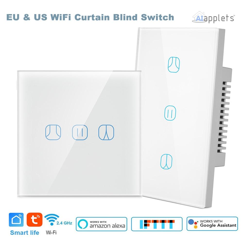 Tuya WiFi الذكية الستار التبديل الأسطوانة مصراع المحرك الكهربائي أعمى التحكم الصوتي جوجل مساعد اليكسا صدى IFTTT smartthing