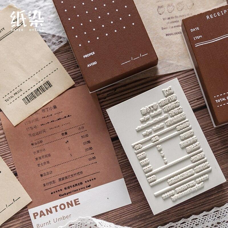 Retro multifunción vintage calendario madera sello claro para DIY scrapbooking/álbum de fotos sello decorativo sello de goma sello