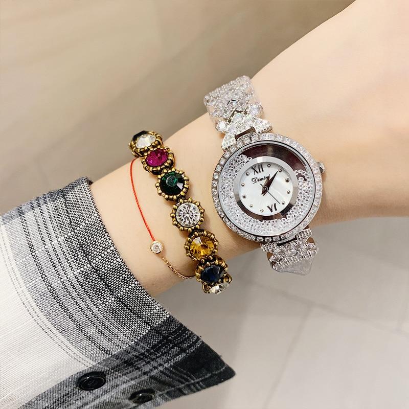 horloges vrouwen Woman Diamond Watches Mission Runway Quartz Watches Lady Female Bracelet Wrist Watch Women Clock relojes mujer