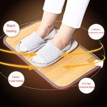 Hiver pied pieds plus chaud lectric tapis chauffant bureau chaud pieds Thermostat coussin chauffant maison tapis de sol chauffant 50x30cm