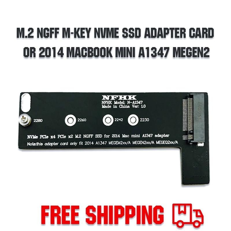 M ключ NVMe M2 SSD для применения Mac Mini 2014 A1347 MEGEN2 MEGEM2 MEGEQ2 адаптер PCI express NGFF 760P 600P riser card
