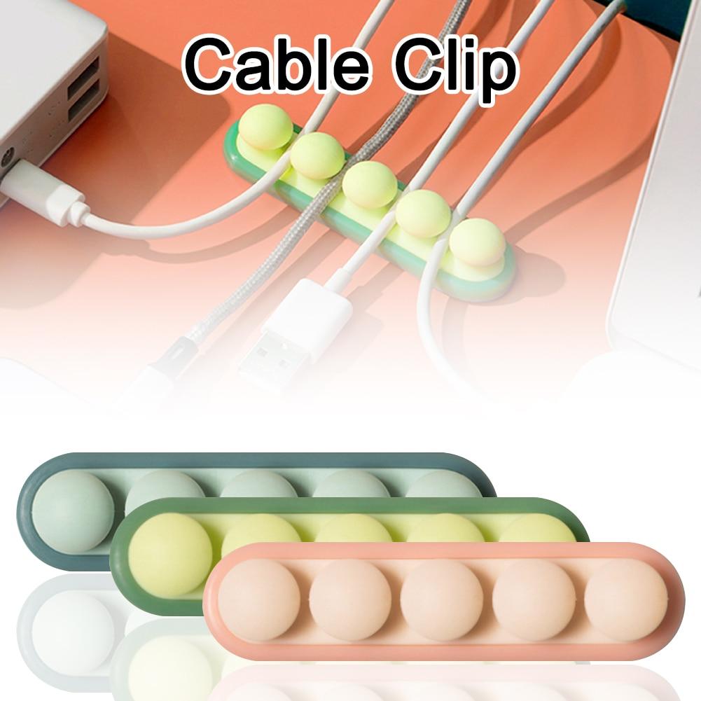 Nuevo USB Cable organizador personalizado Cable de alambre de soporte de silicona...