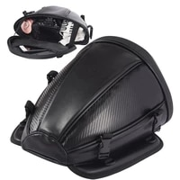 70 hot sales waterproof motorcycle motorbike rear trunk back seat carry luggage tail bag case with suppliers logo pattern