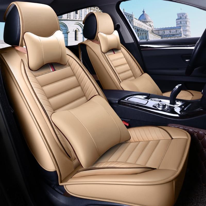 Fundas de asiento de cuero ecológico para asientos de coche fundas de asiento de cuero PU para mercedes mayach s sl sls gla glc glk g gl gls