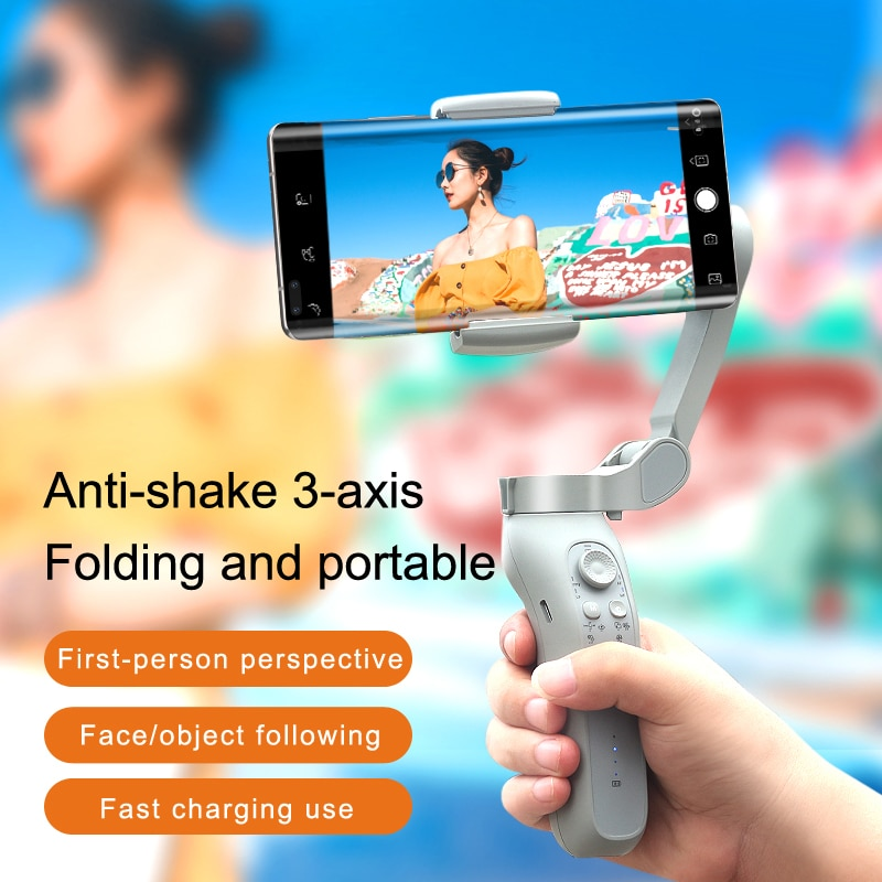 L7Bpro 3-Axis Handheld Gimbal Wireless Bluetooth Phone PTZ Stabilizer for iPhone Tripod Gimbal Smartphone Face Smart Follow enlarge