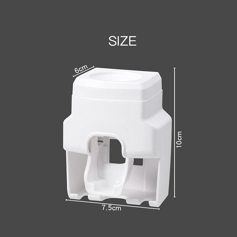 Creative Wall Mount Automatic Toothpaste Dispenser Bathroom Accessories Waterproof Lazy Toothpaste Squeezer Toothbrush Holder enlarge
