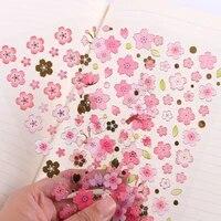 cherry blossoms clear glinsterende percha crystal decora stickers scrapbooking stok label dagboek briefpapier eyebrow stickers