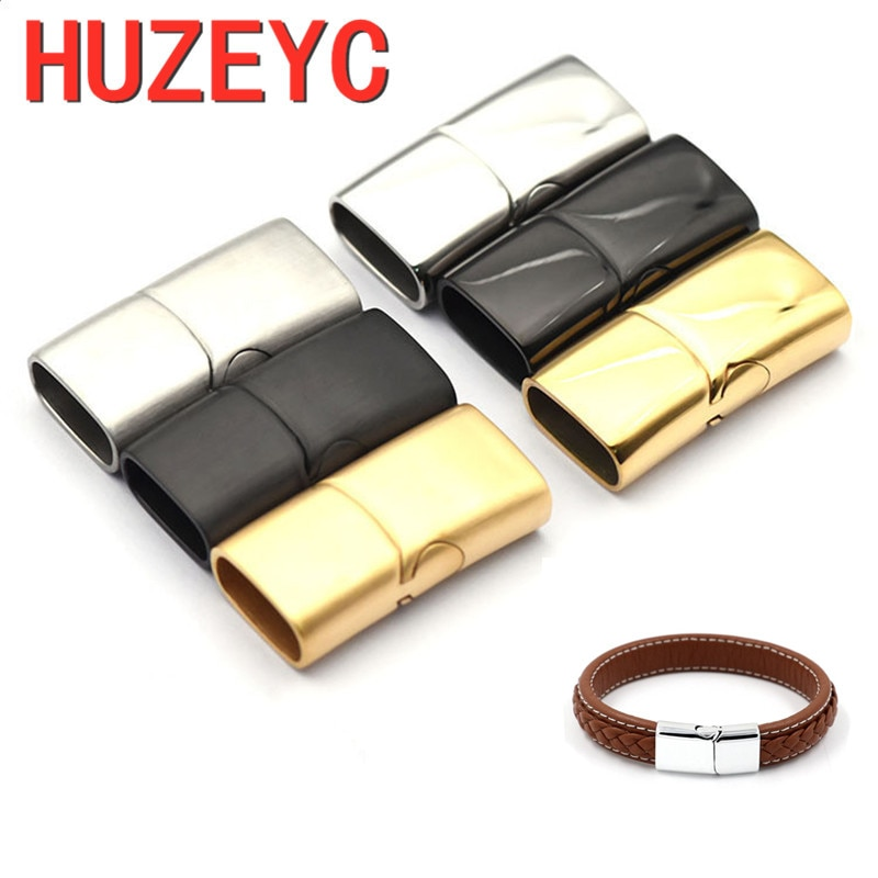 AliExpress - 10pcs/Lot Wholesale Handmade Jewelry Stainless Steel Magnetic Clasps Leather Cord DIY Bracelet Making Connector Buckle Jewelry