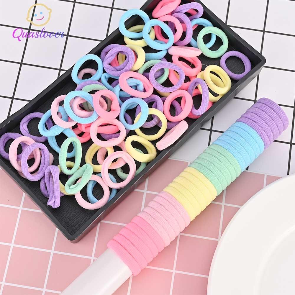 Quaslover, accesorios para el cabello para niñas, 50 unidades, cinta para el pelo de goma elástica, soporte para la diadema, decoración infantil, lazos para el pelo de goma tipo tocado