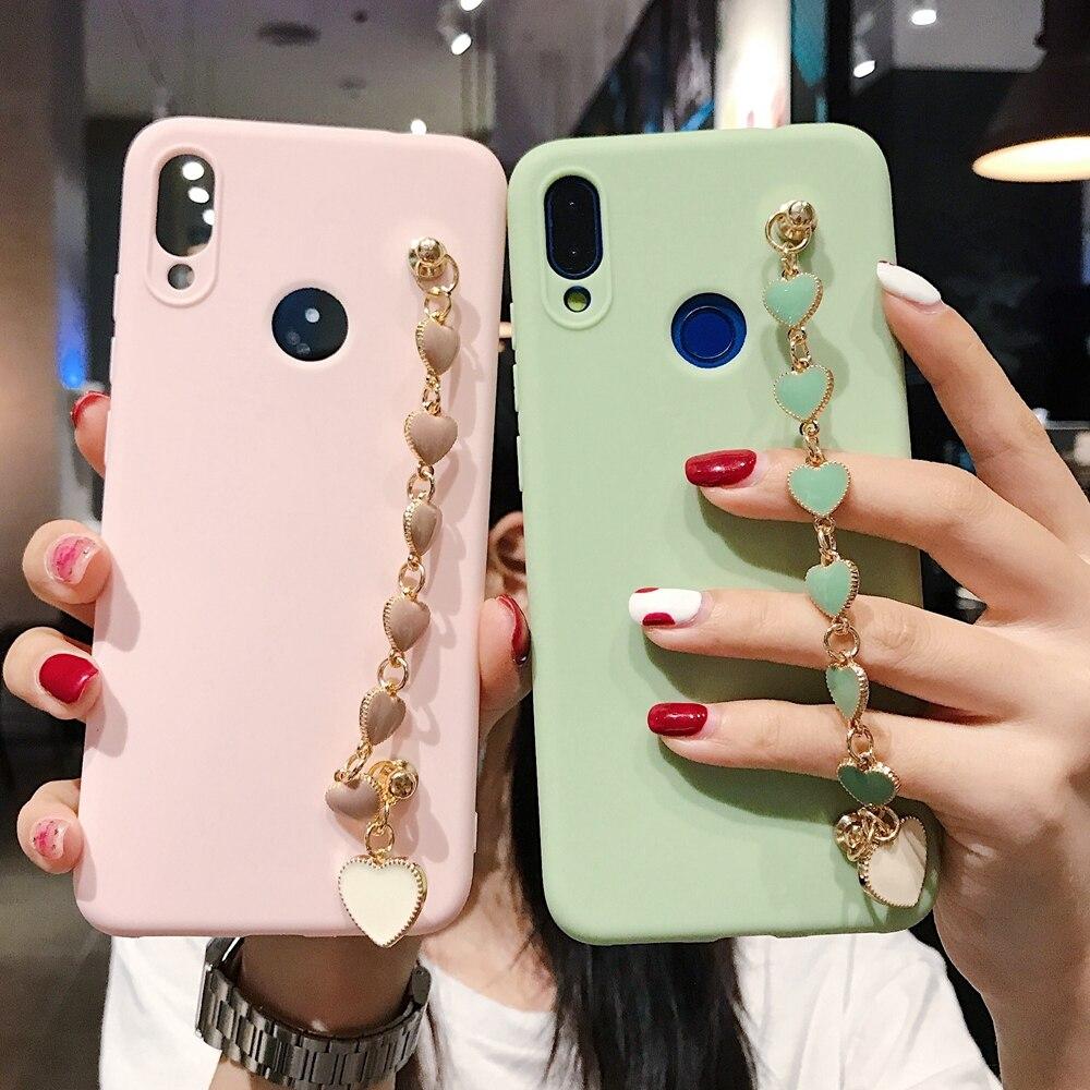 S8 S9 S10 S20 Plus funda para etui Samsung S20 Ultra funda con purpurina de cristal Metal pulsera cubierta en Galaxy S6 S7 S10 Lite