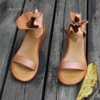 women greek brown leather high platforms khaki